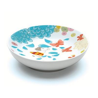 Djeco Assiette creuse en porcelaine millefeuille : 16.5 cm