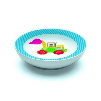 Djeco Assiette creuse en porcelaine bricotta : 16.5 cm
