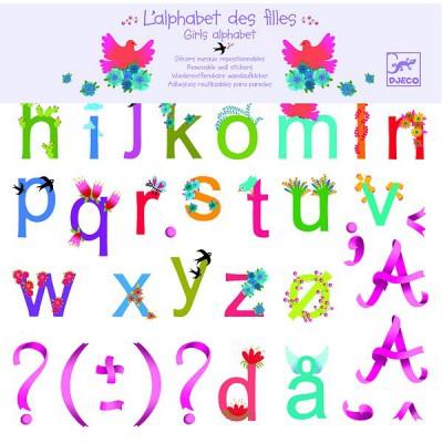 Djeco Stickers repositionnables : L'alphabet des filles