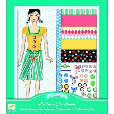 Djeco Kit créatif - Au bonheur des filles : Oh! la mode : Le dressing de Louise
