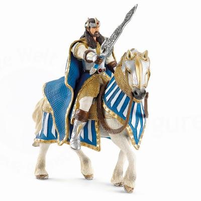 Schleich Figurine Chevalier griffoin roi à cheval
