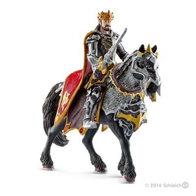 Schleich Chevalier dragon roi à cheval