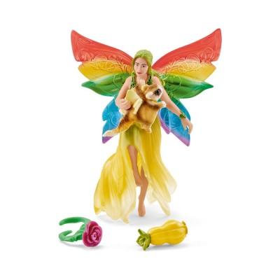 Schleich Figurines Elfe arc-en-ciel Meena avec écureuil volant