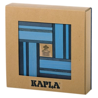 Kapla Kapla 40 planchettes - Bleu clair / bleu foncé