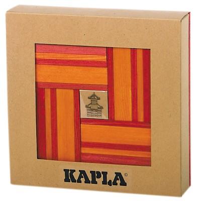 Kapla Kapla 40 planchettes - Rouge / orange