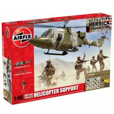 Airfix Maquette hélicoptère: gift set: support hélicoptère forces britanniques