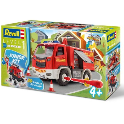 Revell Maquette voiture Junior Kit : Camion de Pompiers