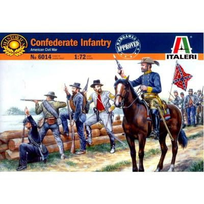 Italeri Figurines guerre de sécession: troupes confédérées