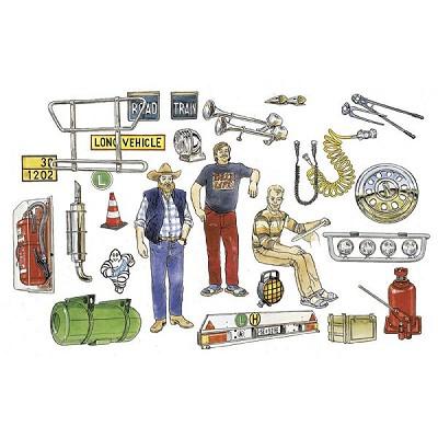 Italeri Accessoires pour camions italeri 1/24