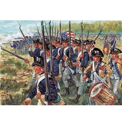 Italeri Figurines guerre d'indépendance: infanterie américaine
