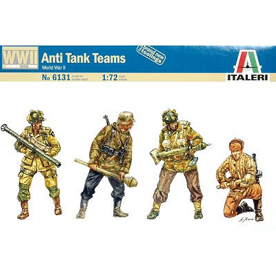 Italeri Figurines 2ème guerre mondiale : escouade anti-Chars