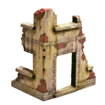 Italeri Accessoires de décor de guerre 1/35 : Coin de maison en ruine