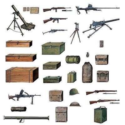 Italeri Accessoires militaires: equipements et armement alliés wwii