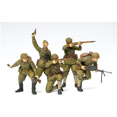 Tamiya Figurines 2ème Guerre Mondiale : Infanterie d'Assaut Russe 1941-1942