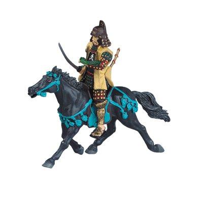 Plastoy Figurine cheval samouraï noir (sans chevalier)