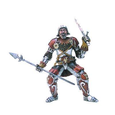 Plastoy Figurine chevalier rouge