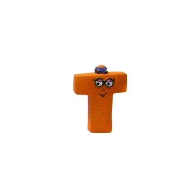 Plastoy Figurine barbapapa : lettre t : barbotine