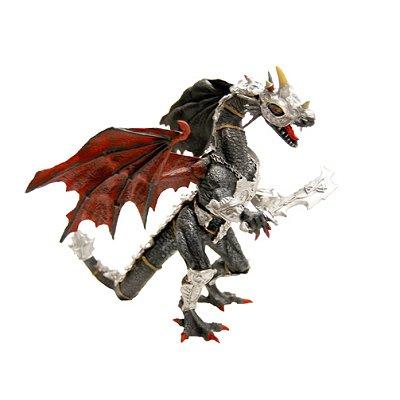 Plastoy Figurine Dragon noir en armure