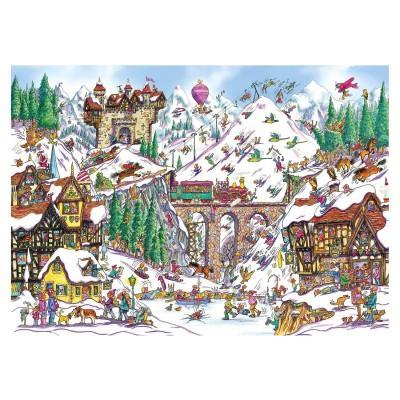 Gibsons Puzzle 1000 pièces : armand foster : station de ski