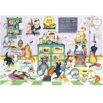 Gibsons Puzzle 100 pièces xxl : linda jane smith : les chats