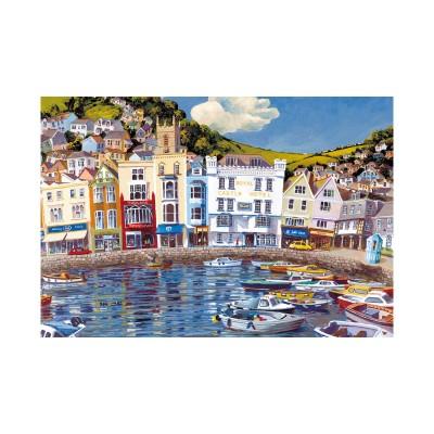 Gibsons Puzzle 100 pièces : bateaux flotteurs