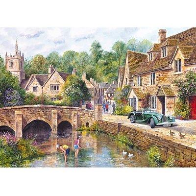 Gibsons Puzzle 1000 pièces - le village de castle combe