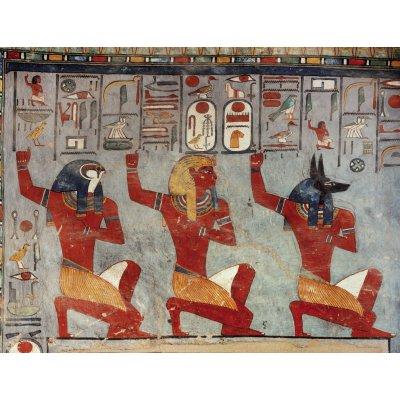 Editions Ricordi puzzle 1000 pièces - art égyptien : ramsès iii - a genoux devant les dieux