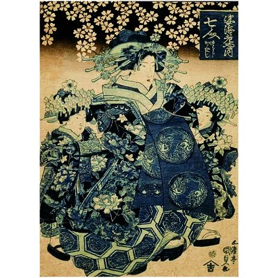 Editions Ricordi puzzle 1000 pièces - hiroshige : la courtisane nanahito