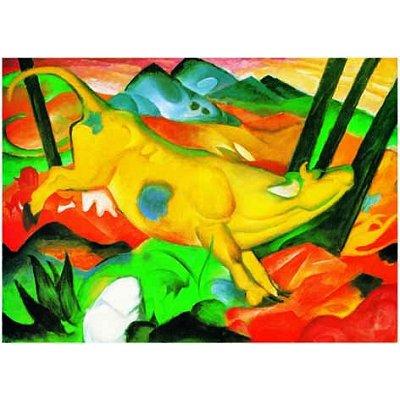 Editions Ricordi puzzle 1000 pièces - franz marc : la vache jaune