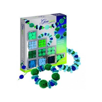 Fun Frag / ed debroise parures de laine vert/bleu : gem shop