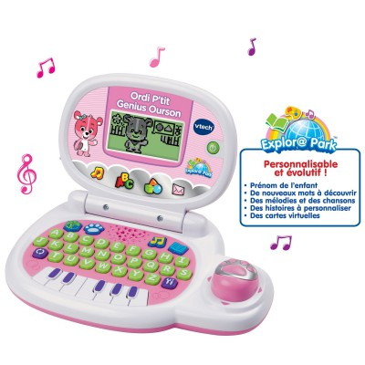 Vtech Ordinateur p'tit genius ourson : rose