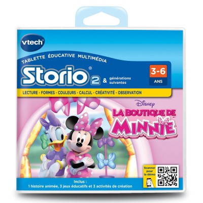 Vtech Jeu pour console de jeux Storio 2 : La boutique de Minnie