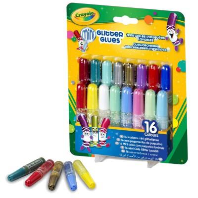 Crayola 16 mini colles pailletées lavables