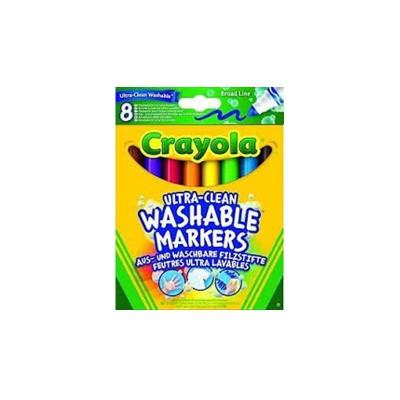 Crayola Crayons : 8 gros crayons à la cire lavables