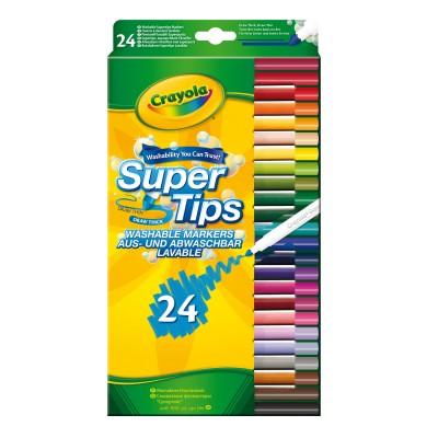 Crayola Crayons : 24 feutres à dessiner