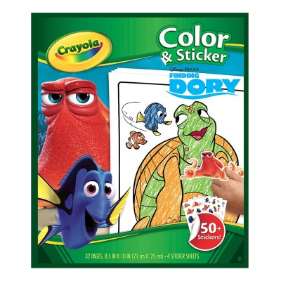 Crayola Album de coloriages et stickers le monde de dory
