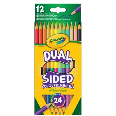 Crayola 12 crayons couleur dual sided