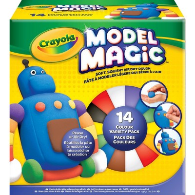 Crayola Coffret pâte à modeler crayola : model magic 14 couleurs