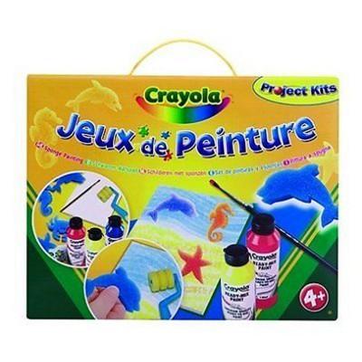 Kit de peinture peinture l 39 ponge crayola magasin de for Technique de peinture murale a l eponge