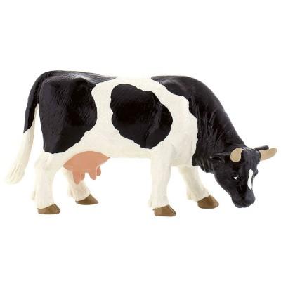 Bullyland Figurine vache noire et blanche