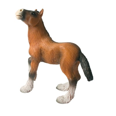 Bullyland Figurine cheval shire : poulain