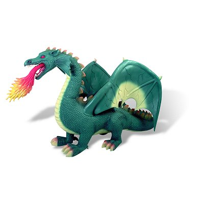 Bullyland Figurine dragon crachant le feu : soft play jumbo
