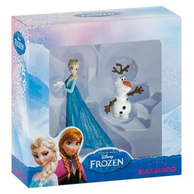 Bullyland Coffret 2 mini figurines la reine des neiges (frozen) : elsa et olaf