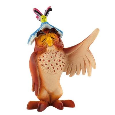 Bullyland Figurine Winnie l'ourson : Maître Hibou avec livre
