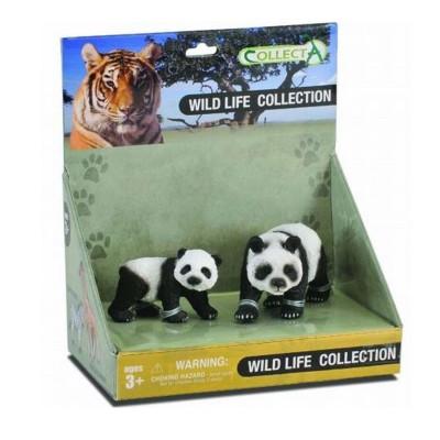 Figurines Collecta figurine : maman panda et son bébé