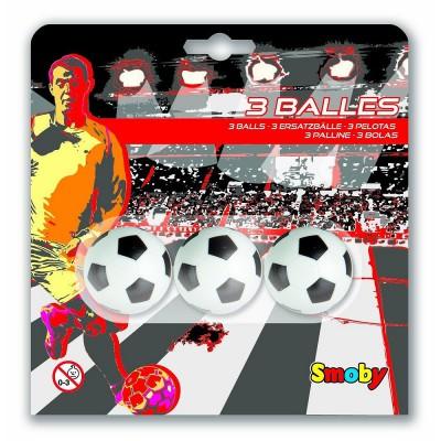 Smoby Balles de babyfoot : 3 balles plastique 34 mm