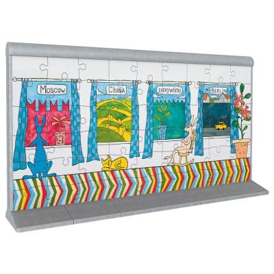 Ravensburger Puzzle 3D 108 pièces : Le mur de Berlin 2
