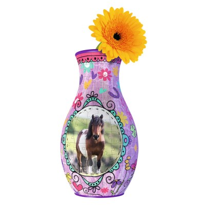 Ravensburger Puzzle 216 pièces 3D : Girly Girl Edition : Vase chevaux