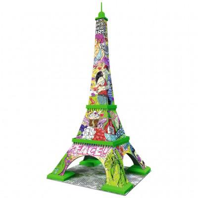 Ravensburger Puzzle 3D 216 pièces : Pop Art Edition : Tour Eiffel