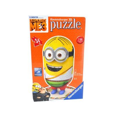 Ravensburger Puzzle 3d 54 pièces : moi, moche et méchant 3 : minions